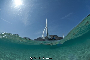 Hobiecat in Mondello Beach (Palermo)  during Wind Surf Wo... by Dario Romeo