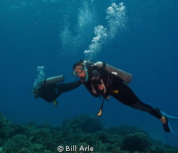 Melissa from Utah.  Her first ocean dives.  Big Island, H... by Bill Arle