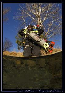 Tec diver getting ready... :O)... by Michel Lonfat