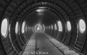 Inside the plane, Capernwray. by Nick Blake