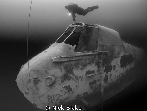Diver on the Wessex Helicopter, Capernwray by Nick Blake
