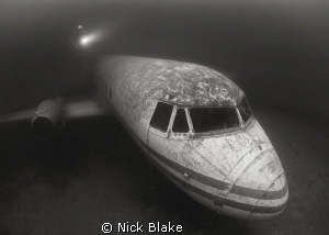 Diver on Passenger Plane, Capernwray. by Nick Blake