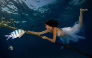 Beauty and the fish by Lucie Drlikova
