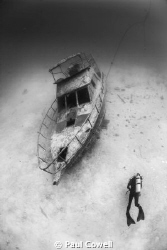 Boat wreck in Panglao, bohol by Paul Cowell
