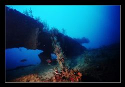 Metal section of a newly discovered wreck near Haifa. A w... by Johannes Felten