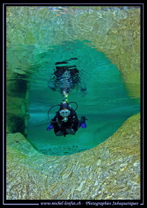 River diving... :O)... by Michel Lonfat