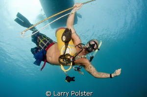 """""""BC"""", I don't need no stinkin' BC to dive.... by Larry Polster"""