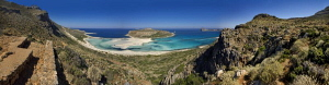 7 shots panorama from Balos (Crete Island)