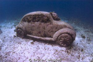 VW from the Isla Muejers underwater museum by Bruce Campbell