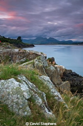 Borth y Gest, North Wales with Snowdonia in the background by David Stephens