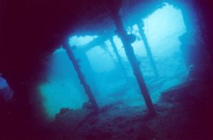Early morning on the Liberty wreck by Bobaly Mihaly