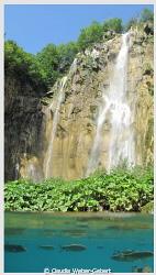 waterfall - Plitvice - Croatia - split shot by Claudia Weber-Gebert