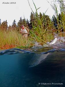 Salmon fisherman at work. by Stéphane Primatesta