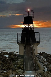 Battery Point lighthouse, Portishead, UK taken with Nikon... by David Stephens