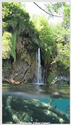 Plitvice small waterfall - Croatia split shot by Claudia Weber-Gebert