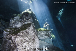 Selkie at cenote Chikin Ha, Quintana Roo, Mexico. by Christian Vizl