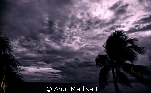 Tropical storm Isaac, 22.08.12 All tease and no delivery... by Arun Madisetti