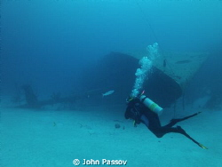 The wreck of the Hilma Hooker- Bonaire by John Passov