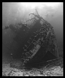 Stern of the Giannis D in the Red Sea. by Keith Savill