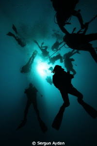 They who divered corals, return from 42m. by Sergun Aydan