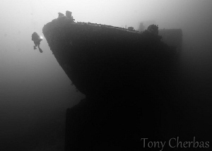 Wreck of the American Tanker, Guam by Tony Cherbas