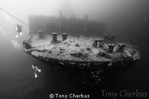 Bow of the American Tanker, Guam by Tony Cherbas