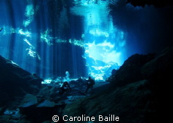 beautiful cenote CHAC MOOL , underwater river, with 200 m... by Caroline Baille