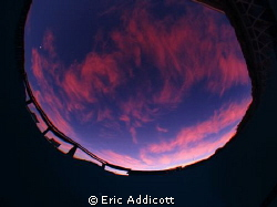 Another bottom-of-pool sunset from Terra Linda, California. by Eric Addicott