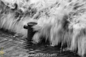 Standing firm Tropical storm Rafael 13.10.12 by Arun Madisetti