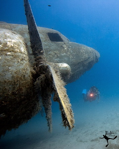 "The ""Dakota"" wreck in Kas/Turkey. Ambient light shit with... by Rico Besserdich"