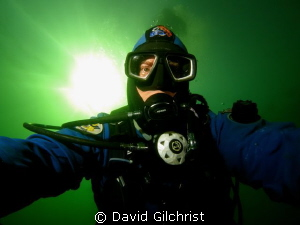 Self Portrait while out to test a  new  Sea &Sea YS-D1 st... by David Gilchrist