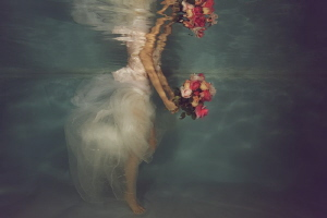 Girl with roses by Lucie Drlikova