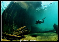 Temple hall wreck, Arrecife, Canary Islands. by Alexia Dunand