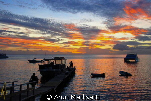 End of a long day. 10hrs at sea with a film crew. by Arun Madisetti