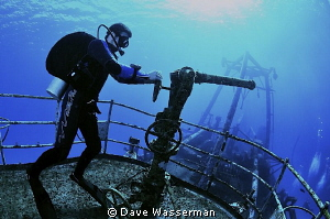 Putting out fires off the bow of the Kitiwake wreck in Gr... by Dave Wasserman