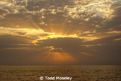 Sunrise, Sudan Red Sea by Todd Moseley