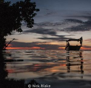 Evening light, Misool, Indonesia. by Nick Blake