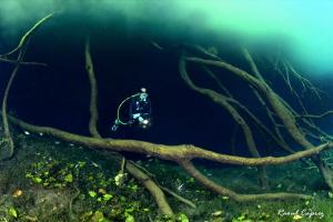 Diving under a cloud by Raoul Caprez