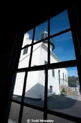 Point Loma Light house San Diego. Looking through the ass... by Todd Moseley