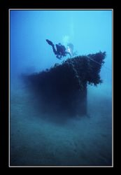 A recently discovered wreck near Haifa. by Johannes Felten