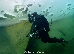 Under the ice.