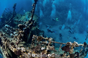 """""""DIVING INDUSTRY ON HAMATA WRECK"""" This wreck is located ... by Isabella Maffei"""