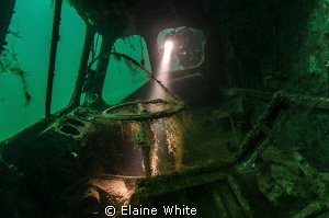 Looking through the window of the Stalwart Amphibious Tra... by Elaine White