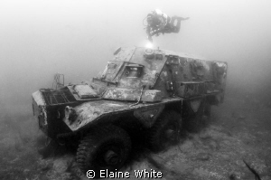 FV 603 Saracen, a six-wheeled armoured personnel carrier.... by Elaine White