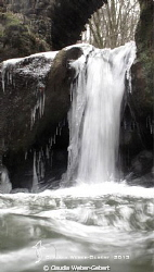 frozen waterfall by Claudia Weber-Gebert