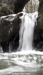 frozen waterfall by Claudia Weber-Gebert
