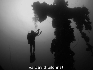 Mast Ascent on the Seiko Maru, Truk Lagoon by David Gilchrist