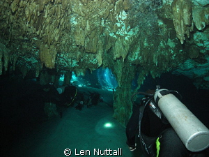 Cenote dive.  DX-G1 with sea and sea strobe... by Len Nuttall