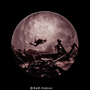 Searching the Depths...Two images were combined to give t... by Beth Watson