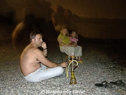 WITHOUT PHOTOSHOP! They are waiting for night diver. Who... by Blagodarova Elena